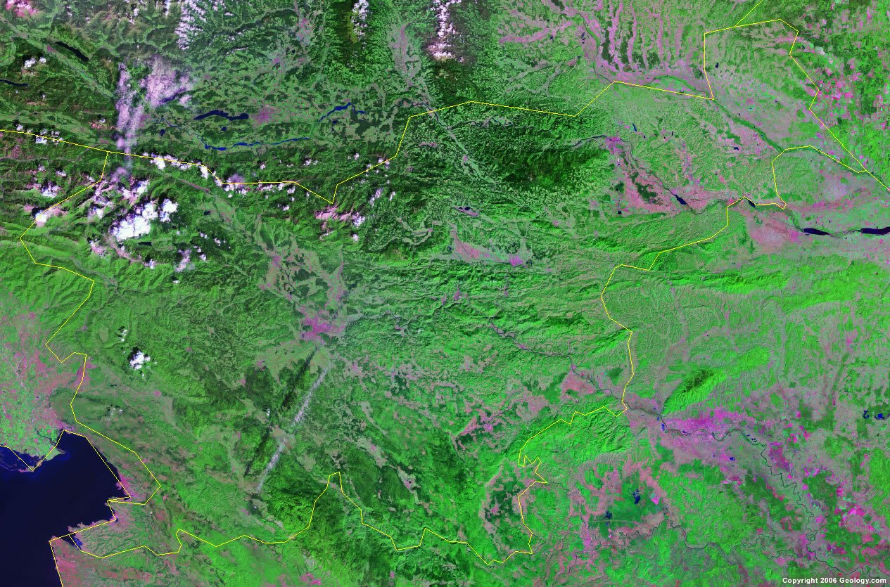 Slovenia satellite photo