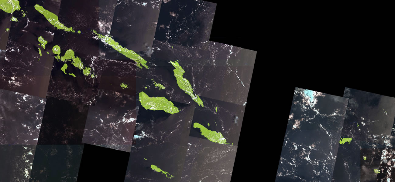 Solomon Islands satellite photo