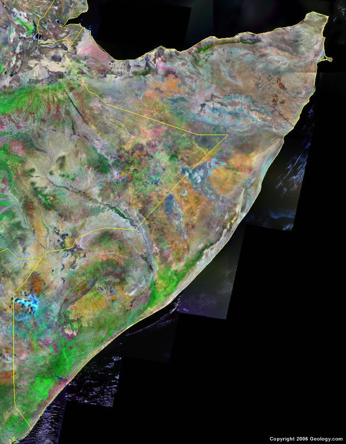 Somalia satellite photo