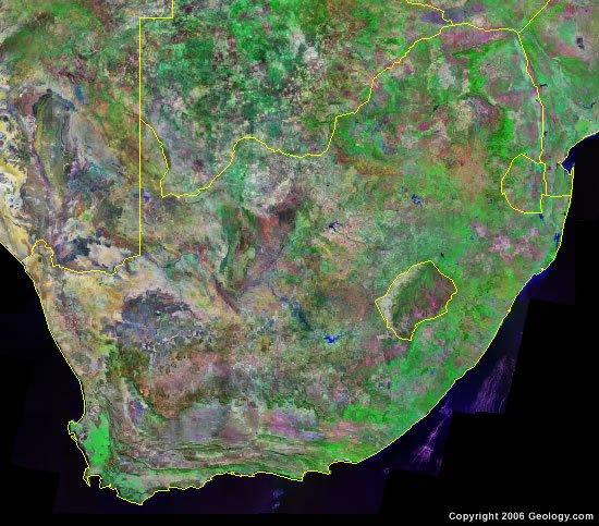 South Africa satellite photo