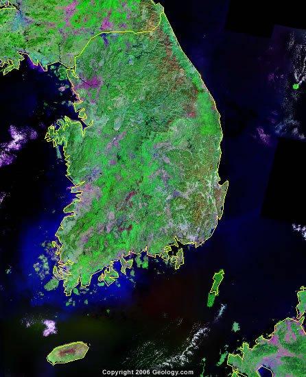South Korea satellite photo