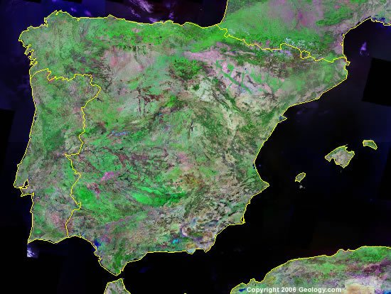 Spain satellite photo