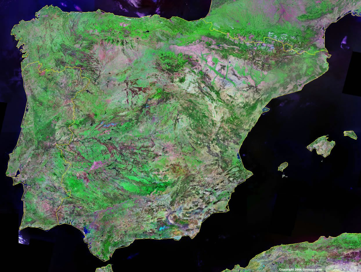 Spain satellite photo