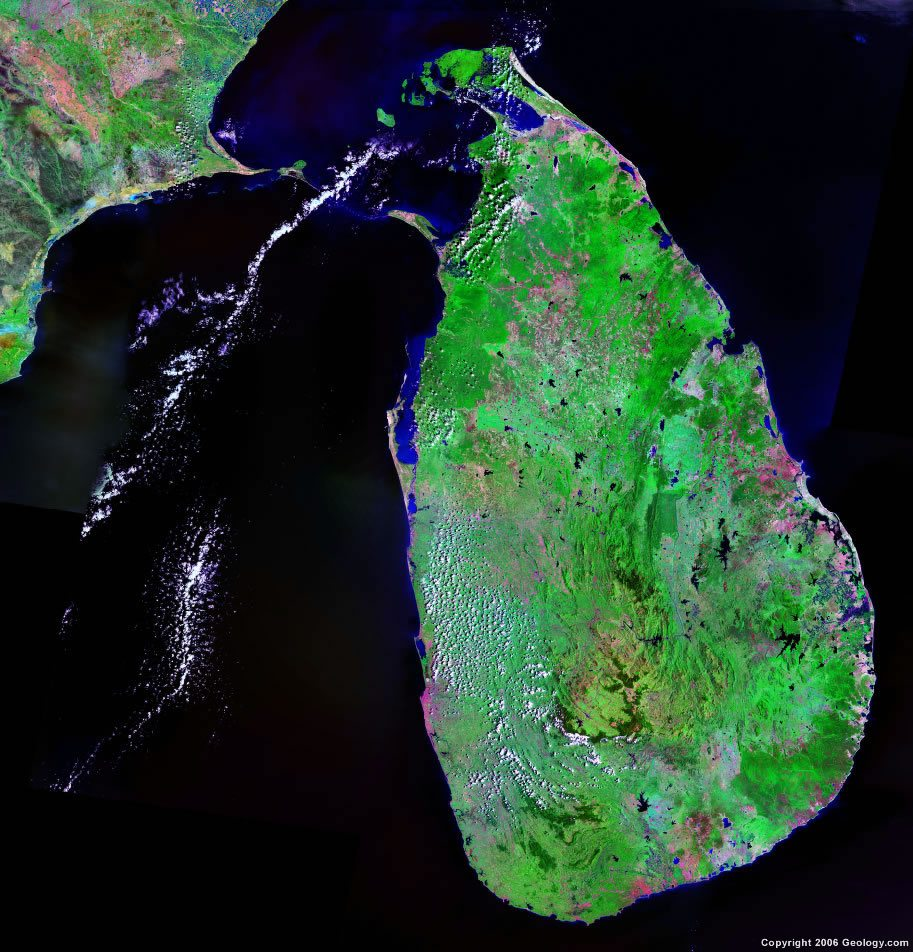 Sri Lanka Map And Satellite Image - World satellite map live online