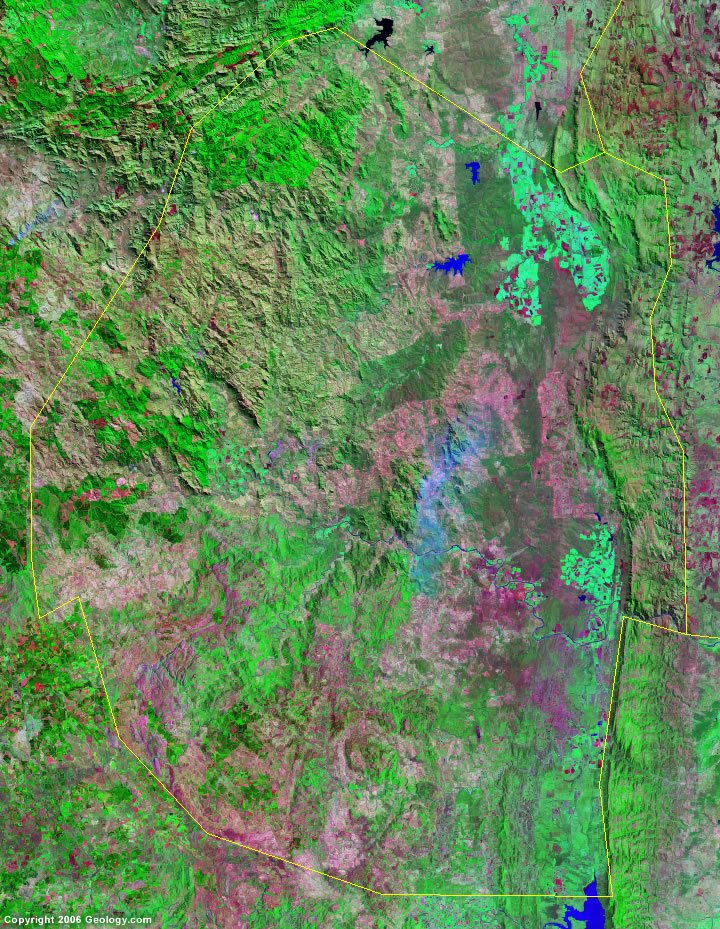 Swaziland satellite photo