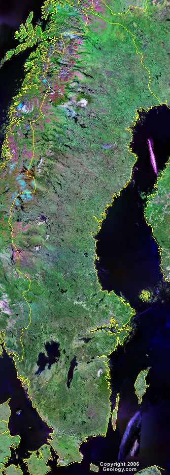Sweden satellite photo