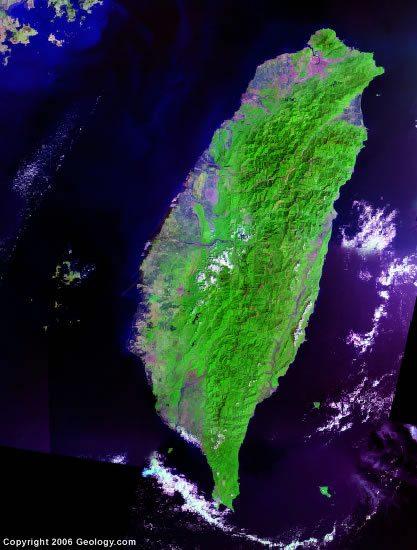 Taiwan satellite photo