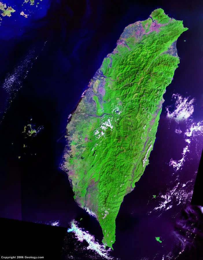 Taiwan satellite photo