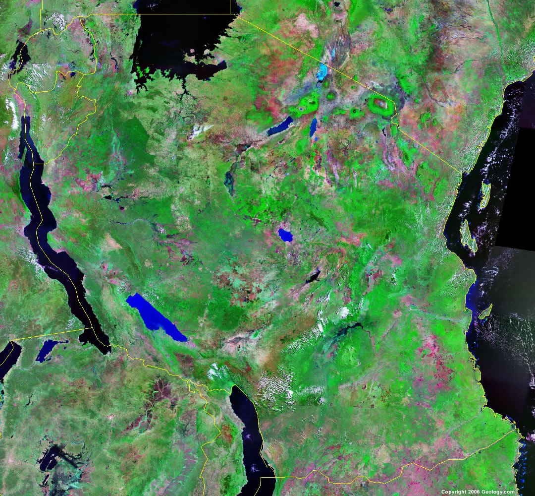 Tanzania satellite photo