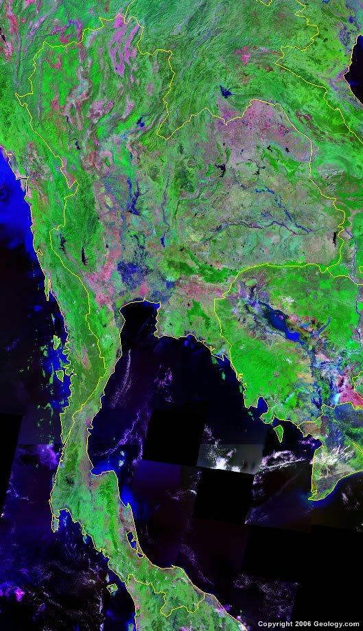 Thailand satellite photo