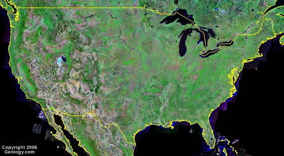 United States satellite photo