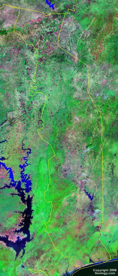 Togo satellite photo