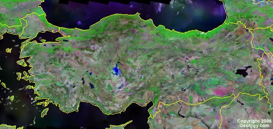 Turkey satellite photo