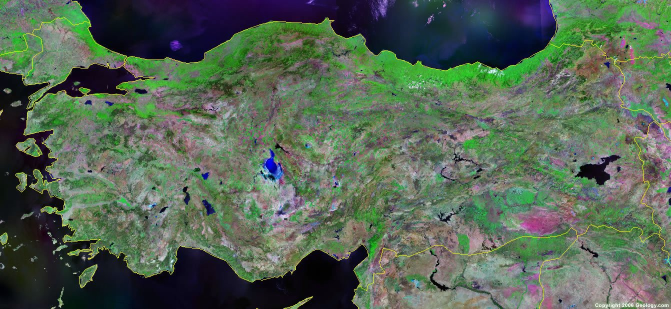 Turkey Map And Satellite Image - Map of turkey
