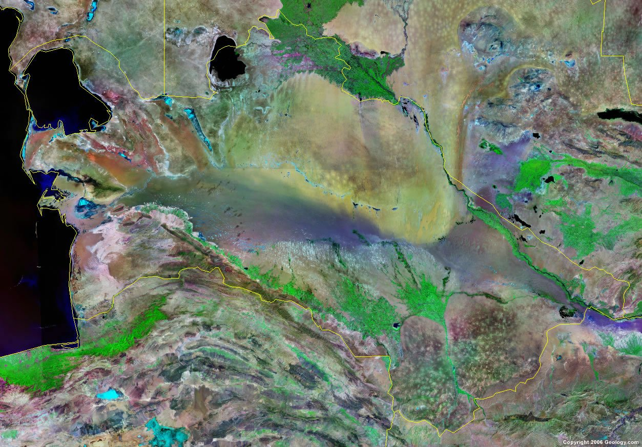 Turkmenistan satellite photo