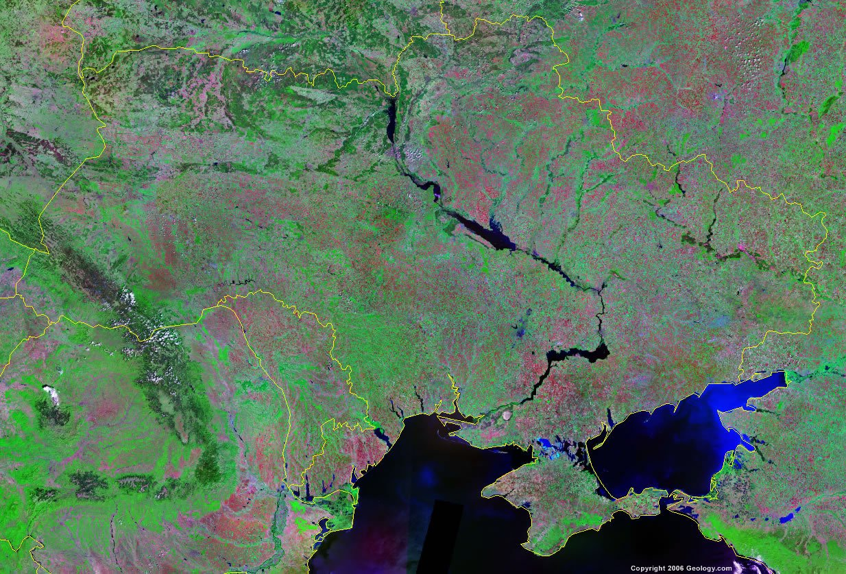 Ukraine satellite photo