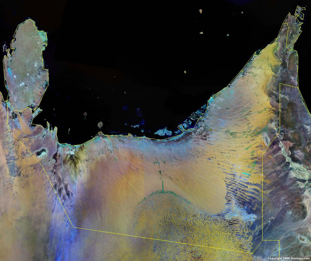 United Arab Emirates satellite photo