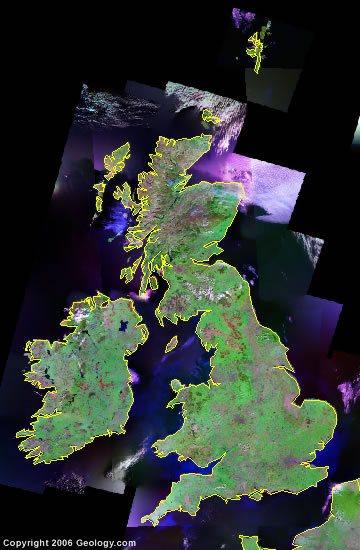 United Kingdom satellite photo