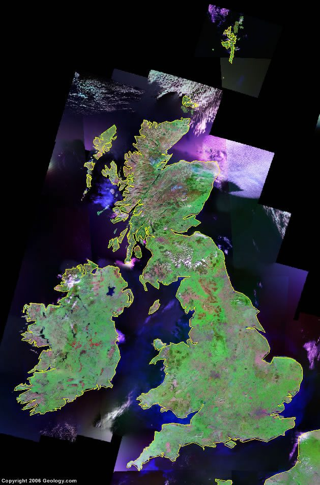 United Kingdom satellite photo