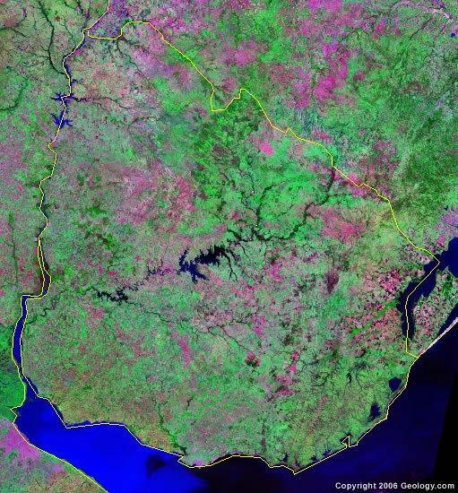 Uruguay satellite photo