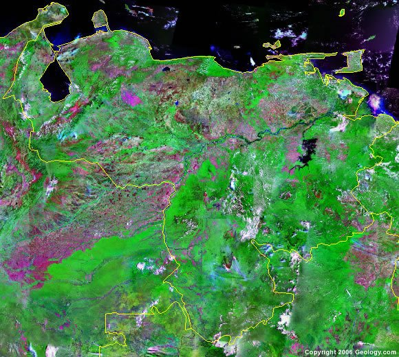 Venezuela satellite photo