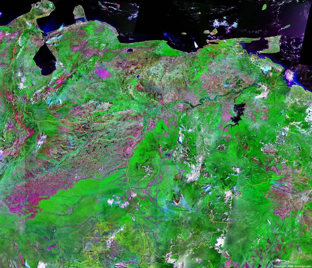 Venezuela Satellite Image Venezuela Map and Satellite