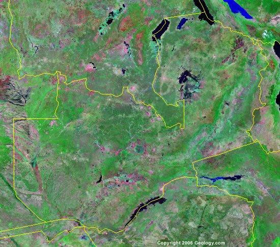 Zambia satellite photo