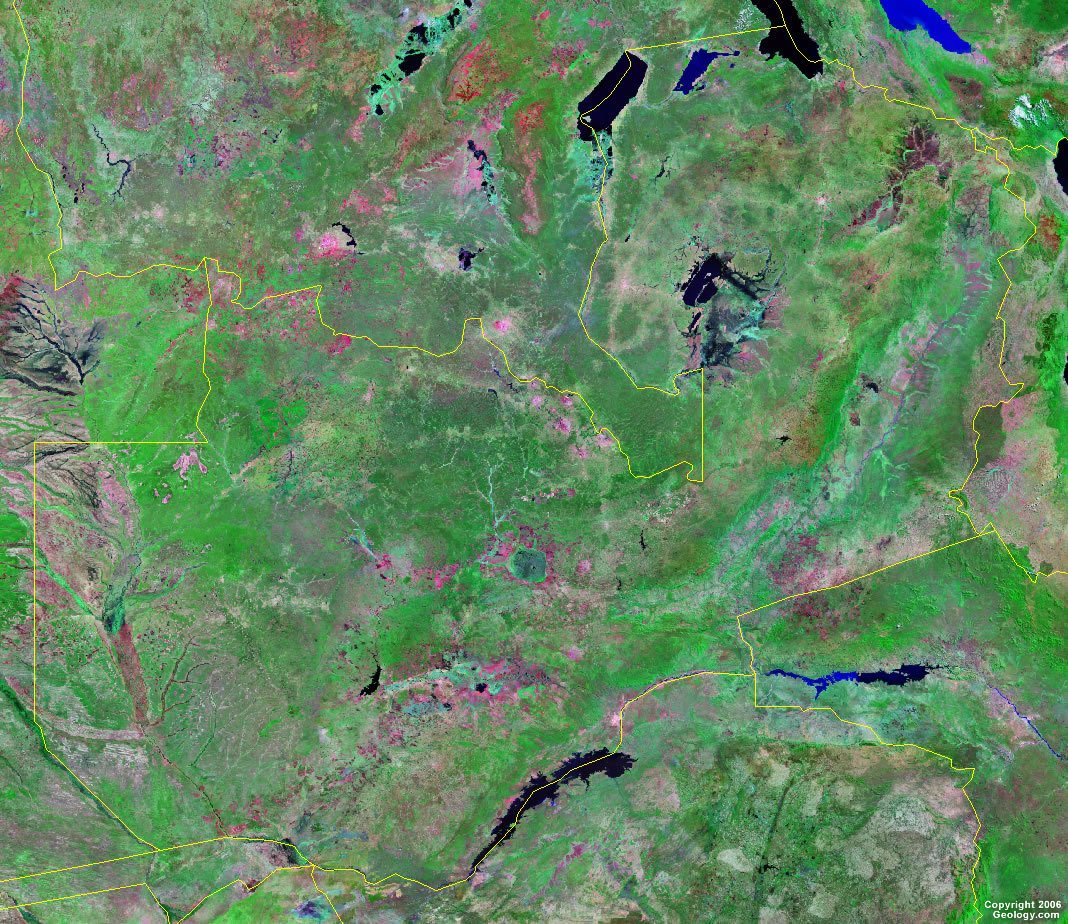 Zambia satellite photo