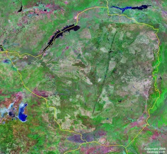 Zimbabwe satellite photo