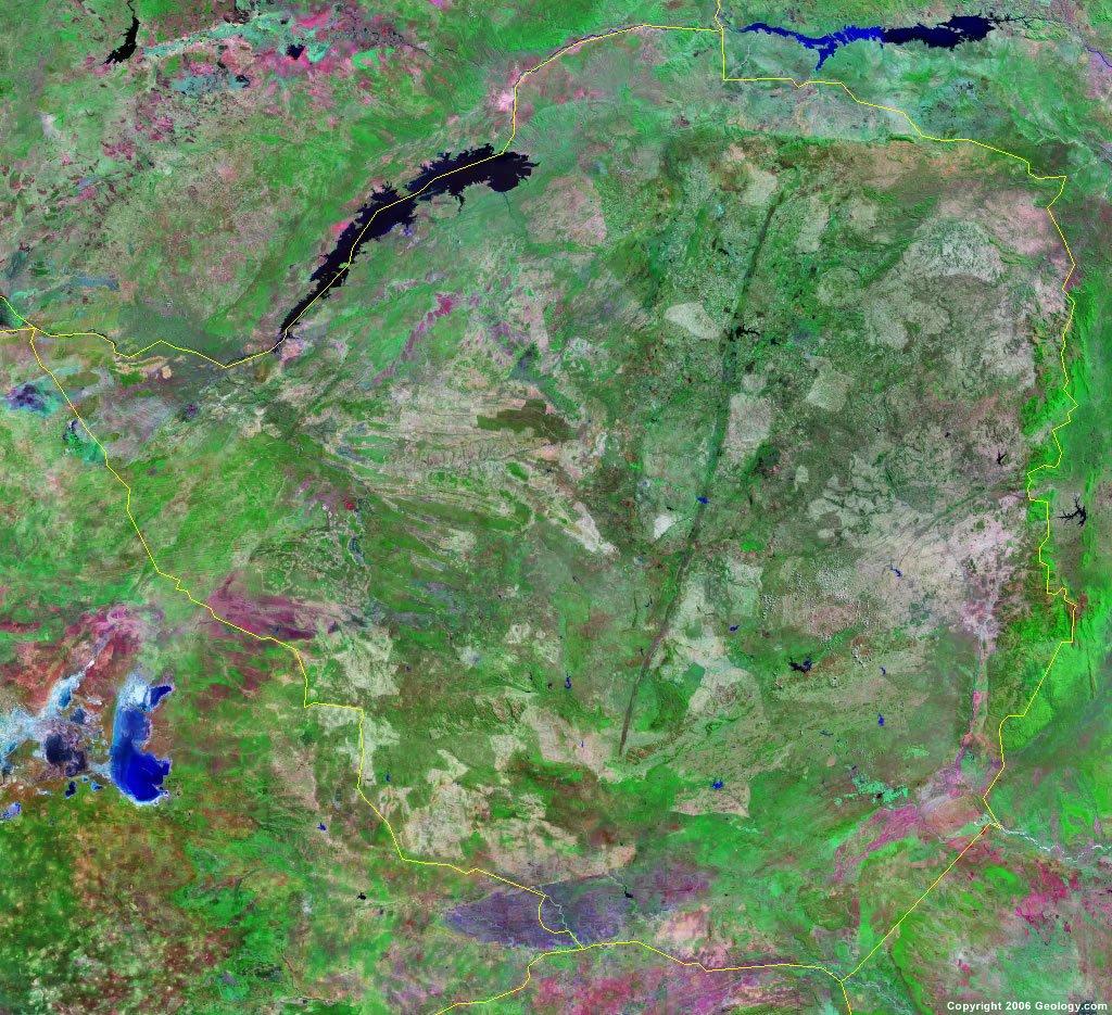 Zimbabwe Map and Satellite Image